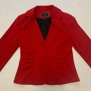 Le Chateau Button Up Red Blazer (xs)